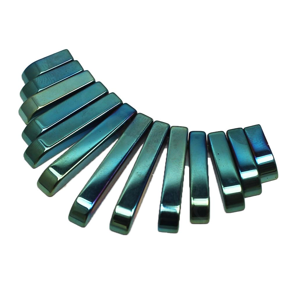 Hematite Egyptian Collar 13pc Green Plated