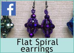 Flat Spiral earrings - 28th May