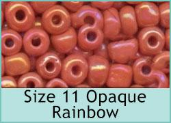 Size 11 Opaque Rainbow