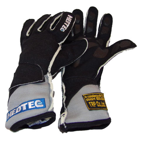 Black FIA Hedtec gloves from racewear.co.uk