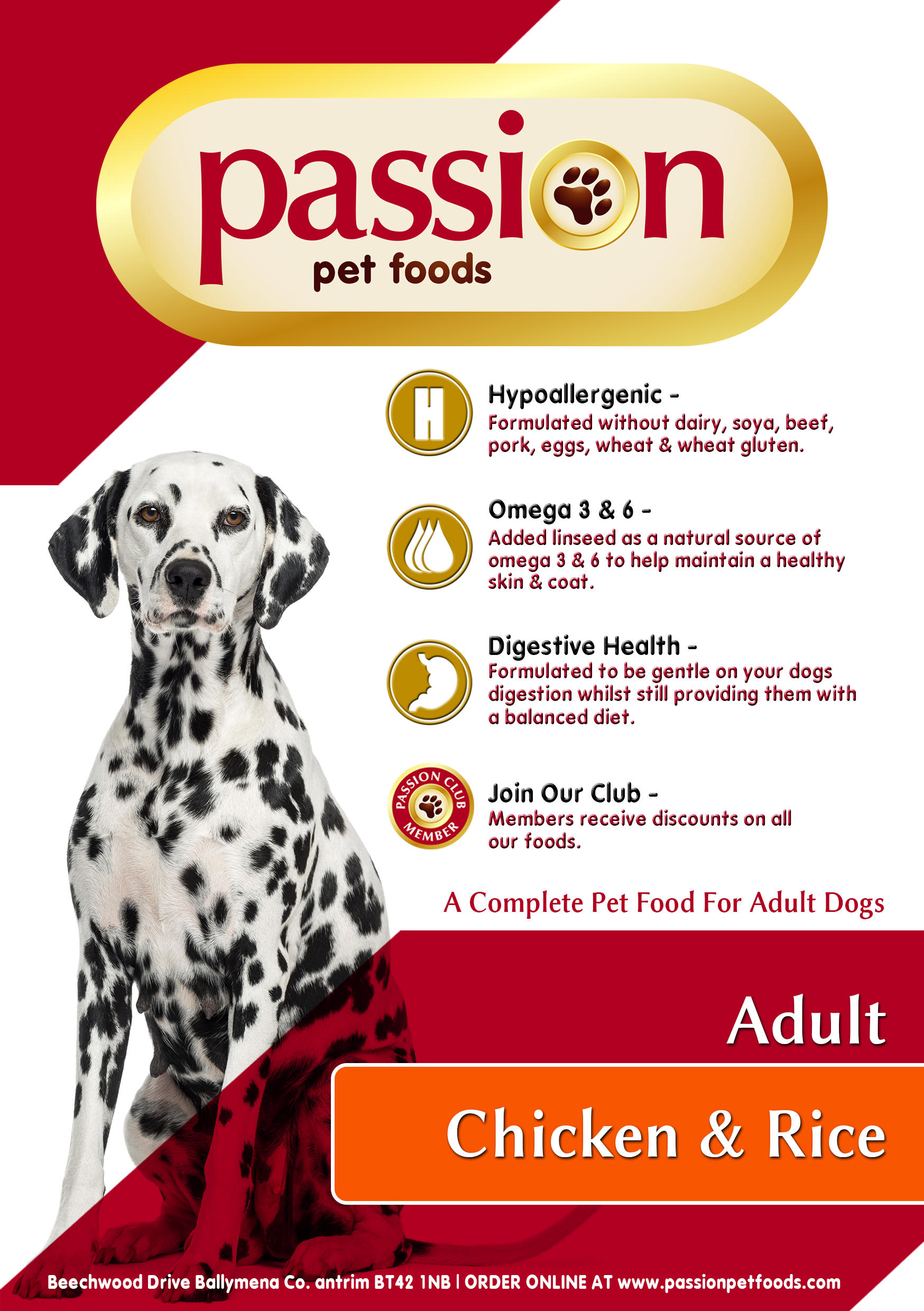 Super Premium Hypo Allergenic Dog Food Passion Pet Foods