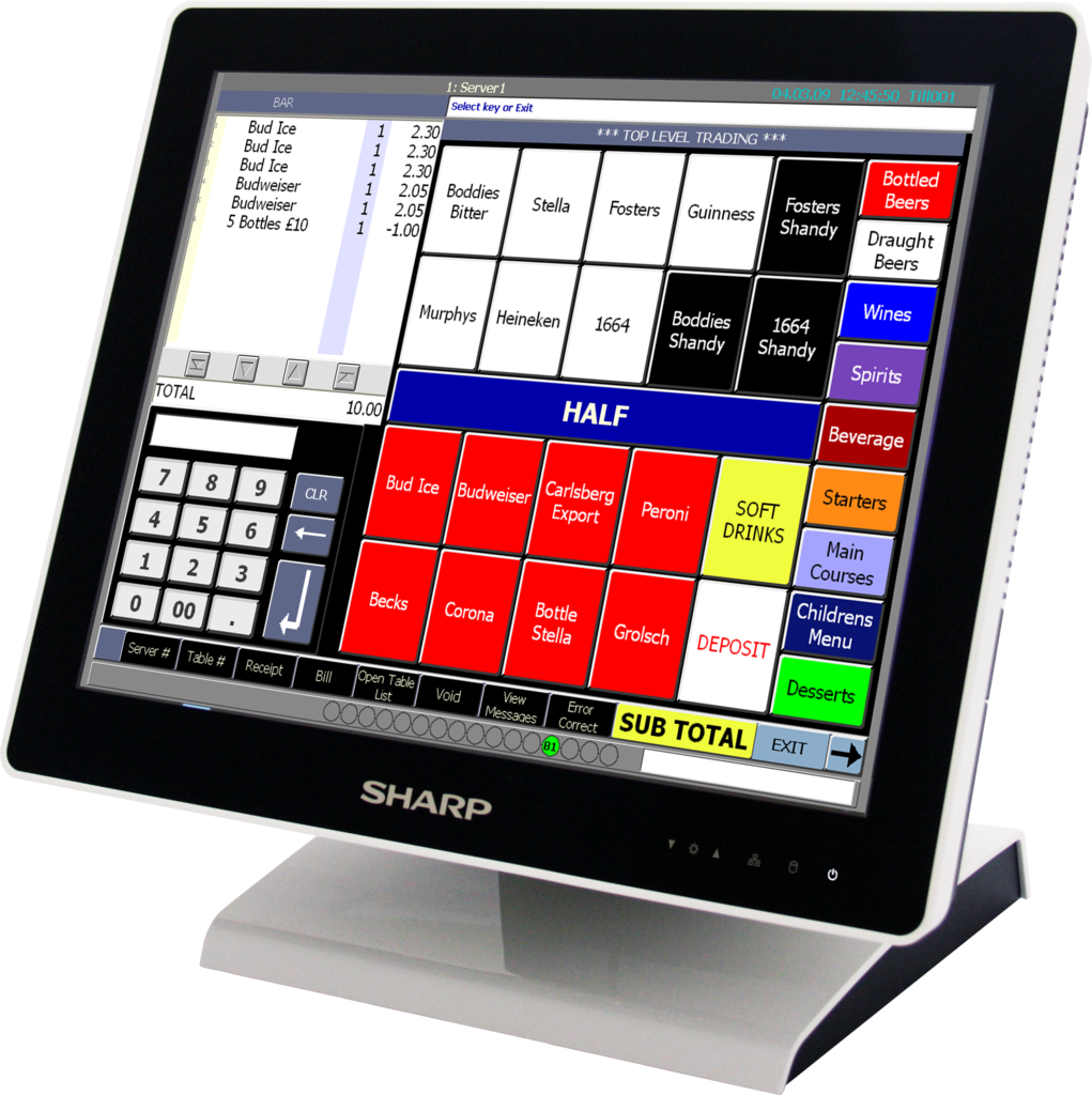 Sharp point of sale terminals