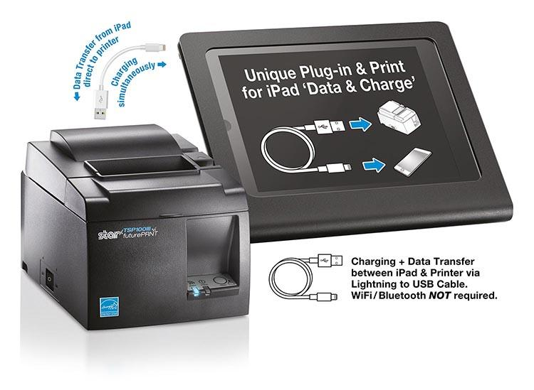 New Star receipt printer with direct connection to iPad