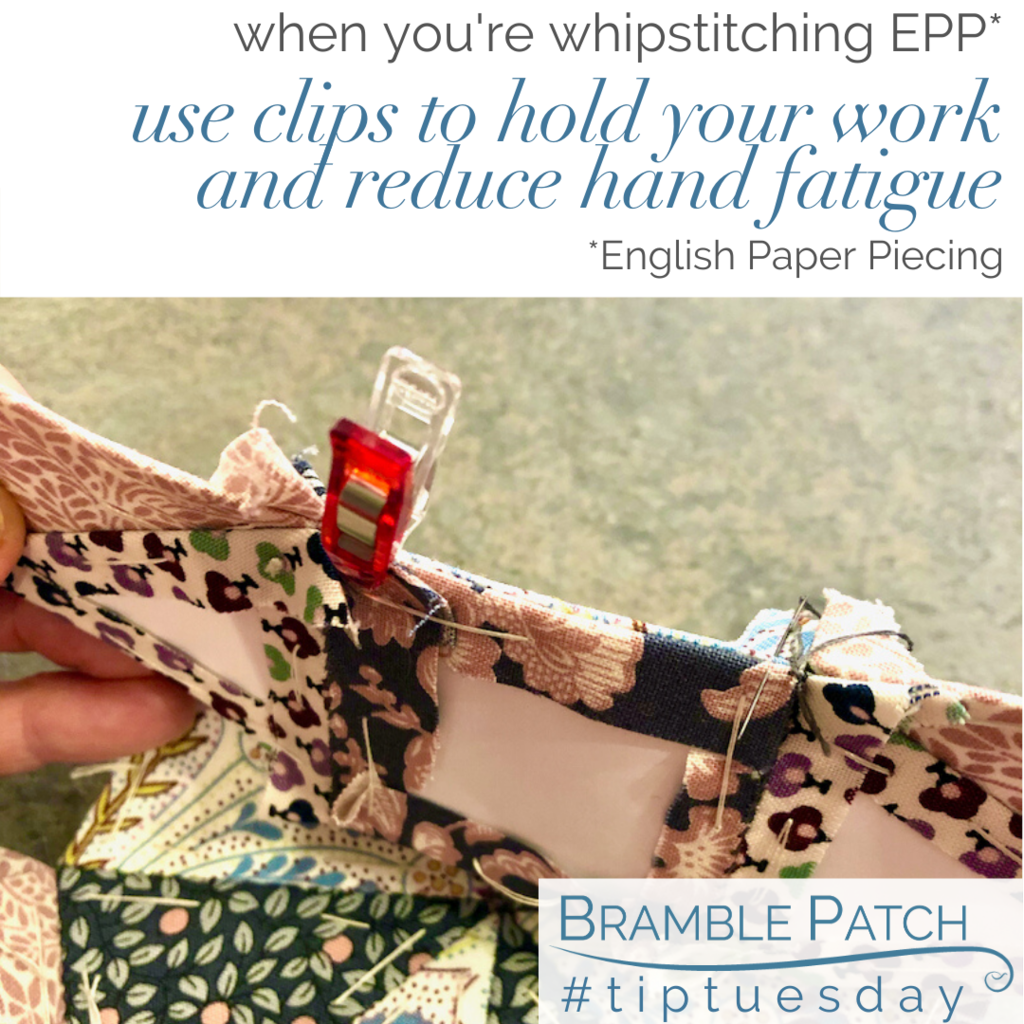 Use clips to hold your EPP and reduce hand fatigue