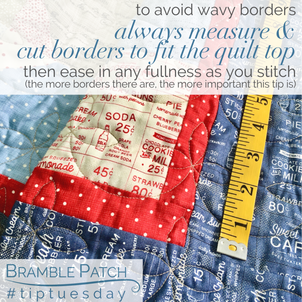 Measure and cut borders to fit the quilt top