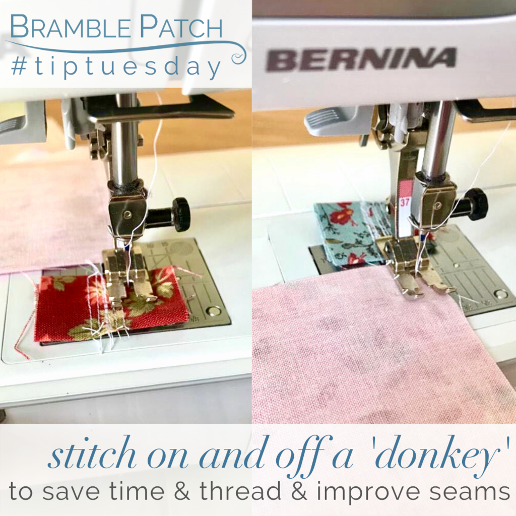Stitch on and off a 'donkey' to save time and thread