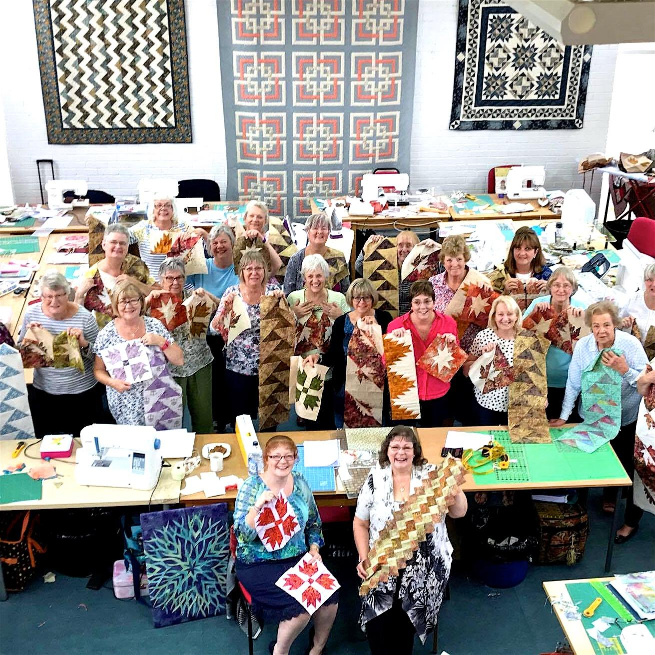 Patchwork quilting weekend retreat