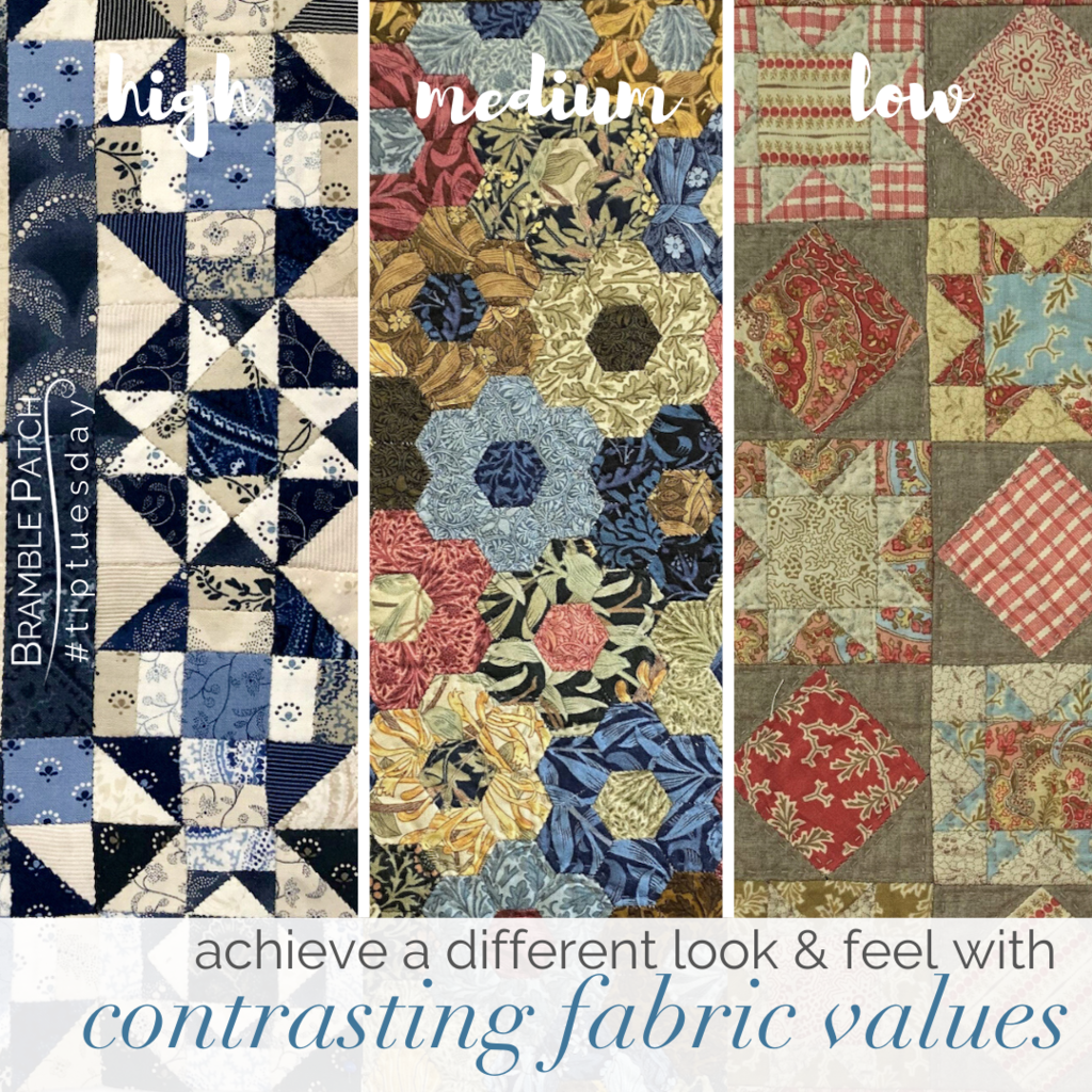 Achieve a different look with contrasting fabric values