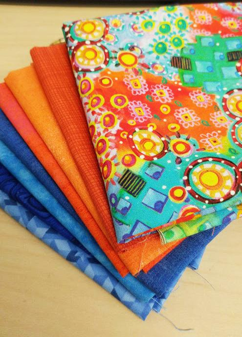Let the stitching begin! Check out my fabulous choice of fabrics!