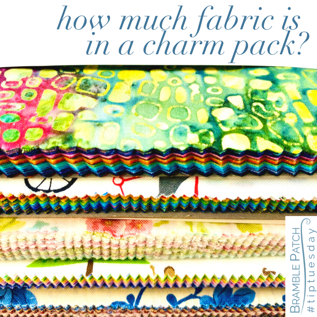How much fabric is in a charm pack?