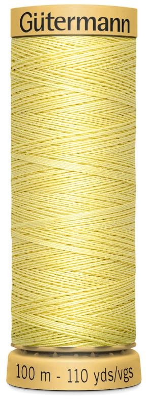 5725-100m Gutermann 100/% Natural Cotton Sewing Thread Col