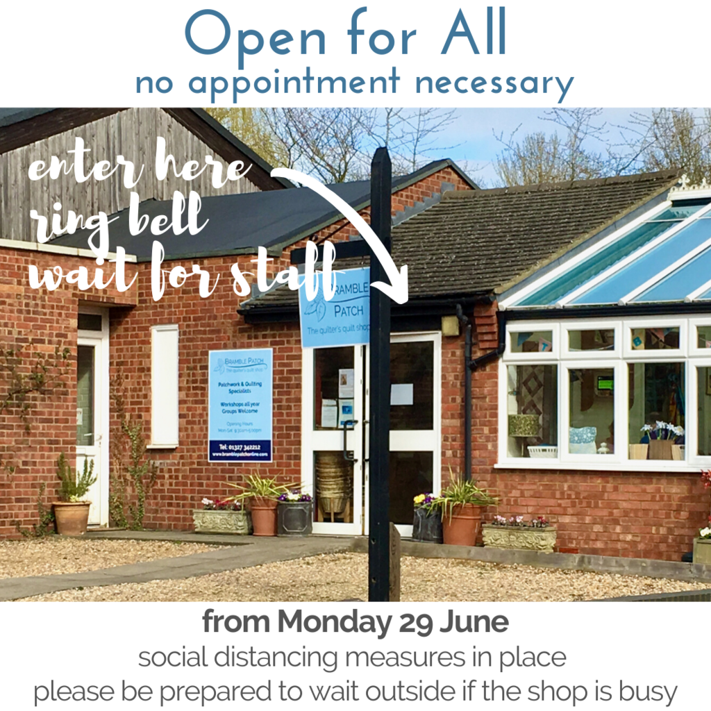 We're Open for All (no appointments) from 29 June