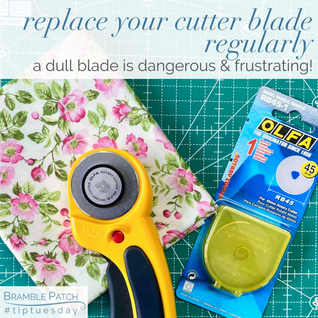 Replace your cutter blade regularly