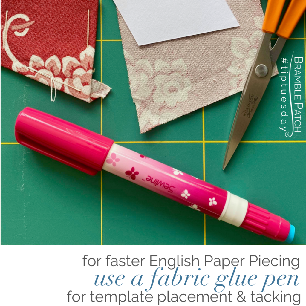 Speed up EPP with a fabric glue pen