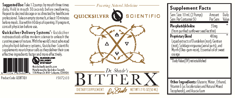 BitterX is comprised of dandelion, gentian root, solidago (goldenrod), and myrrh, delivered in the advanced liposomal format that Quicksilver Scientific is well known for.