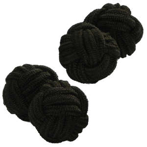 Chocolate Brown Knot Cufflinks from Cuffs & Co