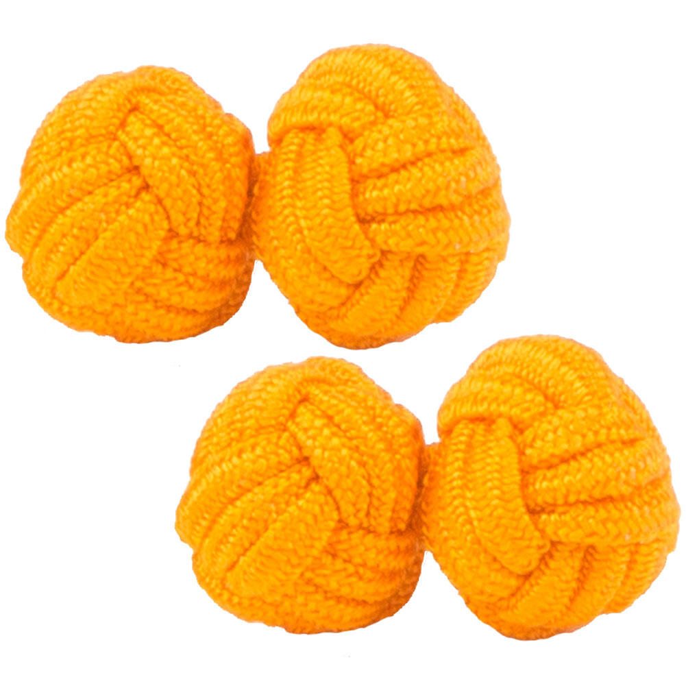 Bright Orange Silk Knot Cufflinks from Cuffs & Co