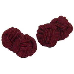 Chianti Silk Knot Cufflinks from Cuffs & Co