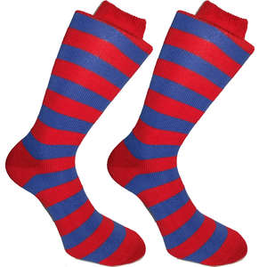 Red and Blue Stripy Socks | SOCK CLUB® from Cuffs & Co