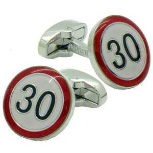 30 Road Sign Cufflinks from Cuffs & Co