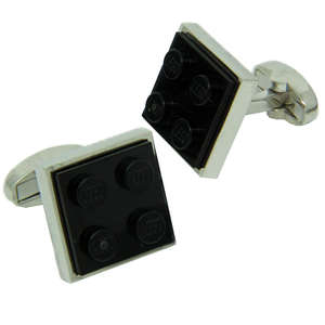Black LEGO® Brick Cufflinks from Cuffs & Co
