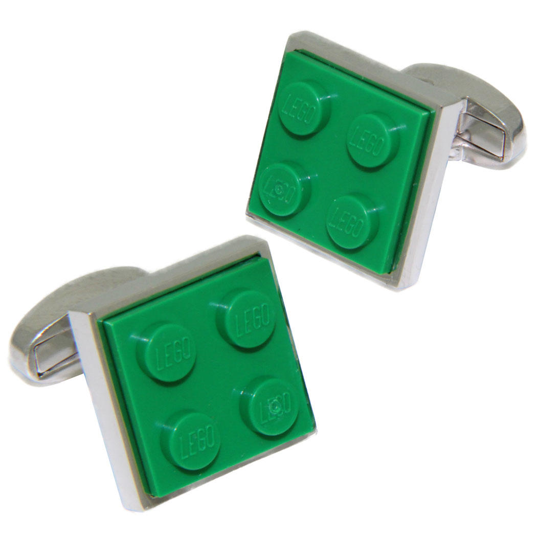 Dark Green LEGO® Brick Cufflinks from Cuffs & Co