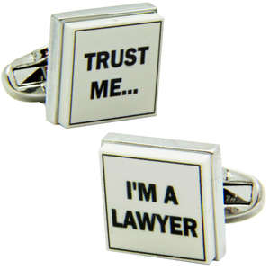Trust Me I'm A Lawyer Cufflinks from Cuffs & Co
