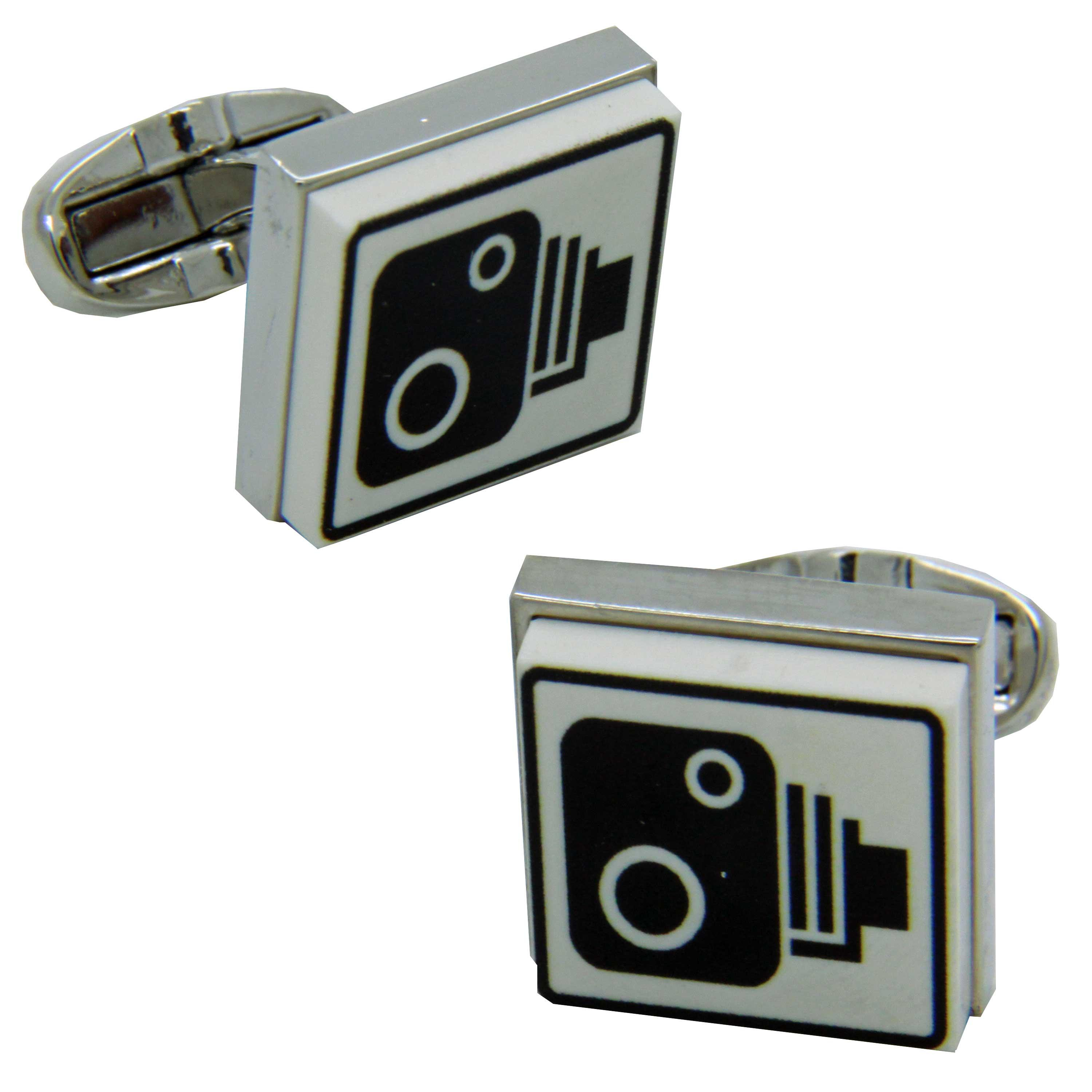 Speed Camera Sign Cufflinks from Cuffs & Co