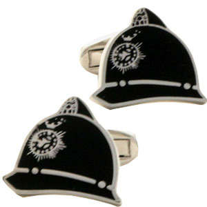 Police Helmet Cufflinks from Cuffs & Co