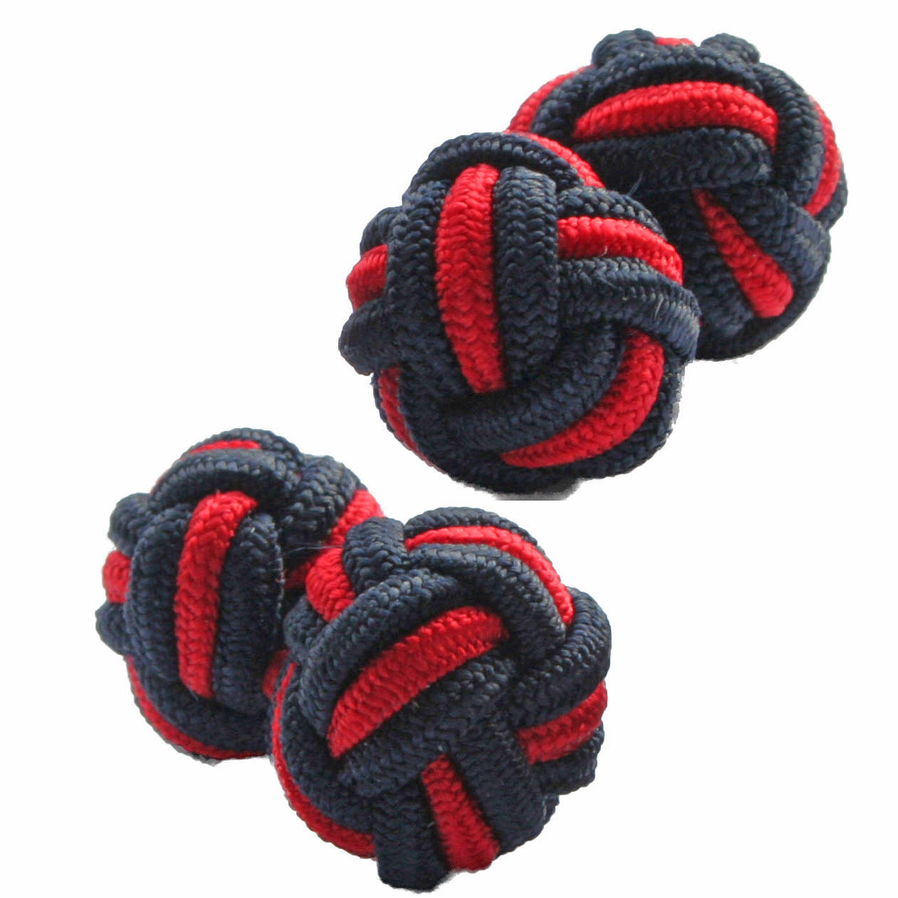 Black and Red Silk Knot Cufflinks from Cuffs & Co