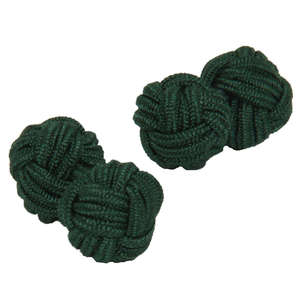 Deep Green Knot Cufflinks from Cuffs & Co