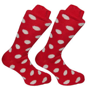 Red & Cream Spotty Socks | SOCK CLUB® from Cuffs & Co