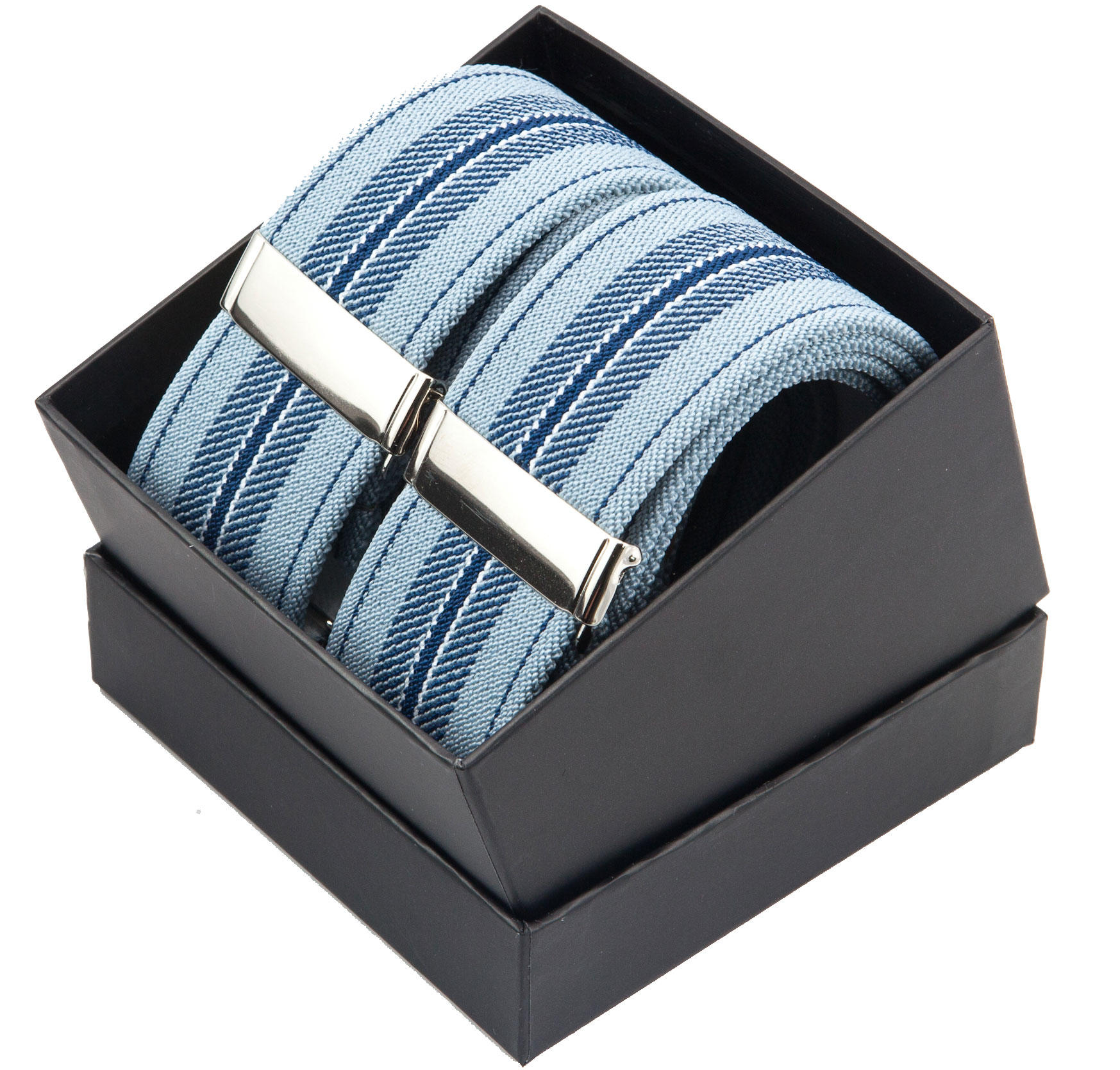 Blue Stripe Y Braces from Cuffs & Co