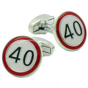 40 Road Sign Cufflinks from Cuffs & Co