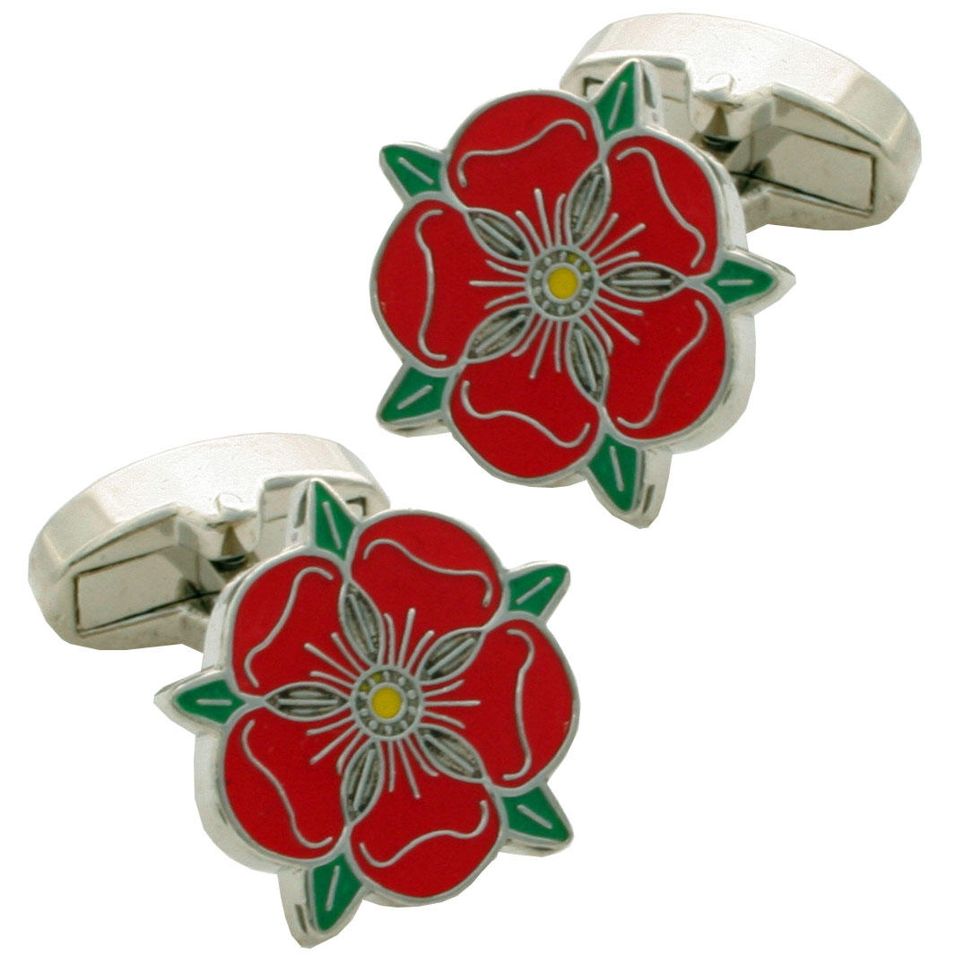 Lancashire Rose Cufflinks from Cuffs & Co