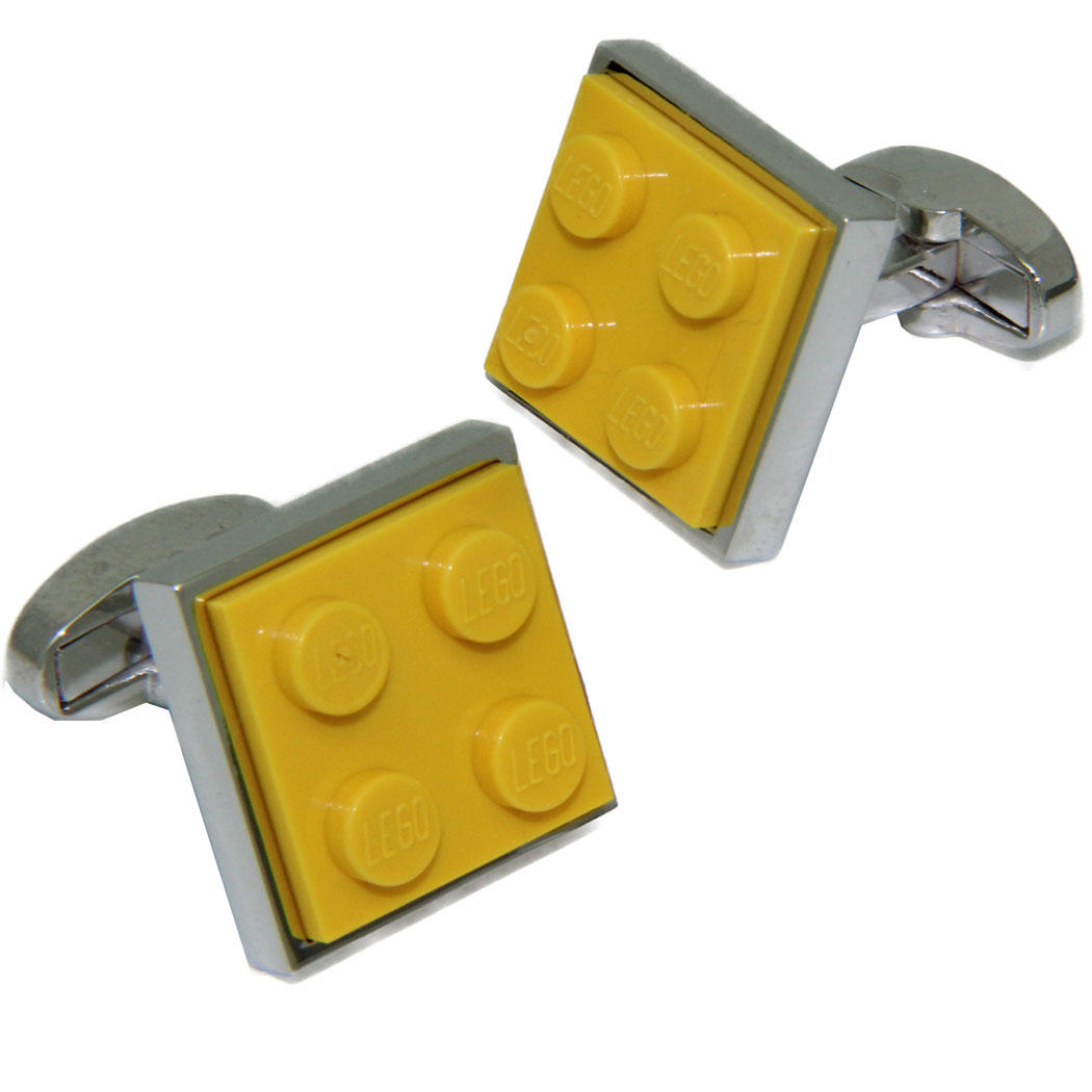Yellow LEGO® Brick Cufflinks from Cuffs & Co