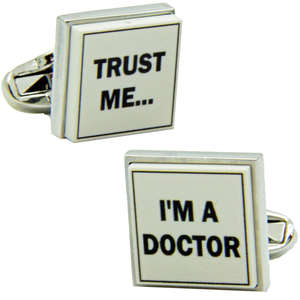 Trust Me I'm A Doctor Cufflinks from Cuffs & Co