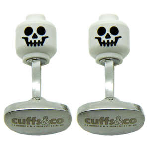 Skeleton Skull Head LEGO® Cufflinks from Cuffs & Co
