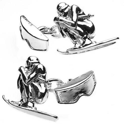 Skier & Goggles Chain Link Cufflinks from Cuffs & Co