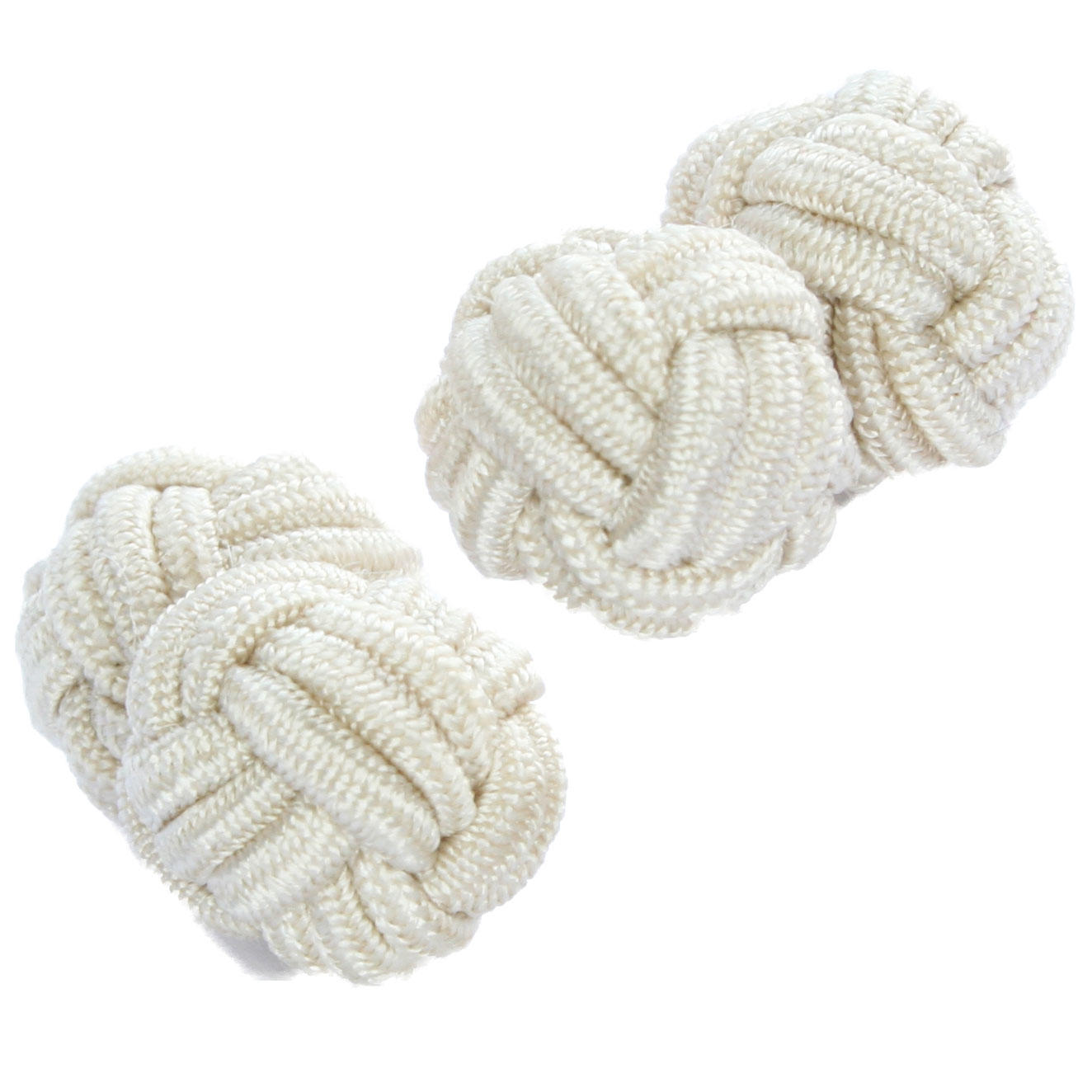 Light Beige Knot Cufflinks from Cuffs & Co