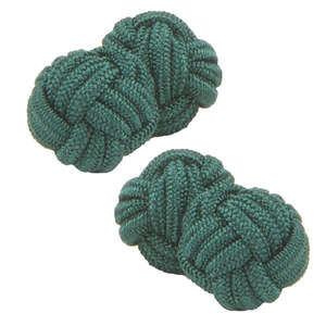 Green Knot Cufflinks from Cuffs & Co