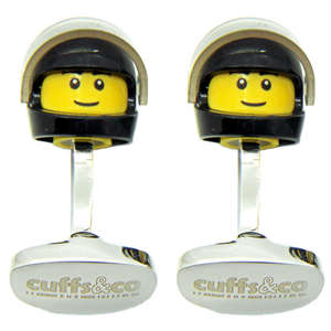 Black Helmet LEGO® Head Cufflinks from Cuffs & Co
