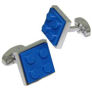 Blue LEGO® Brick Cufflinks from Cuffs & Co