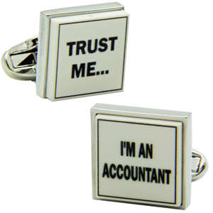 Trust Me I'm An Accountant Cufflinks from Cuffs & Co