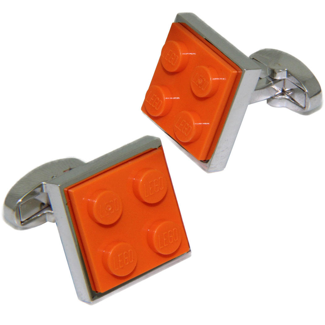Orange LEGO® Brick Cufflinks from Cuffs & Co