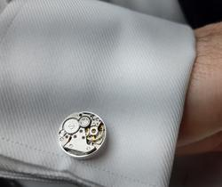 KICKSTARTER - British Made Watch Movement Steampunk Cufflinks