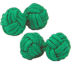Rich Green Knot Cufflinks from Cuffs & Co