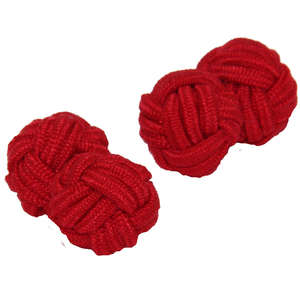 Red Silk Knot Cufflinks from Cuffs & Co