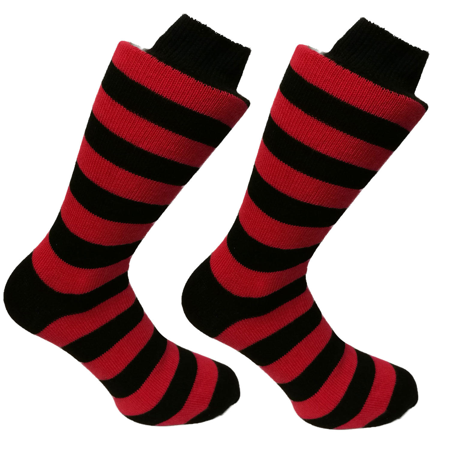 Black and Red Stripy Socks | SOCK CLUB® from Cuffs & Co