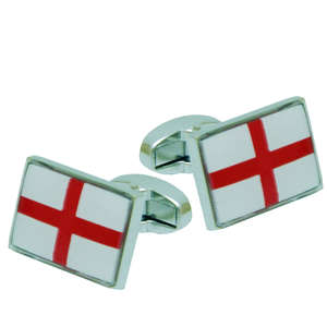 England Flag Cufflinks from Cuffs & Co